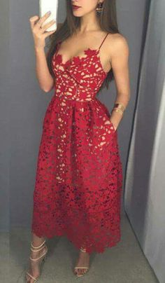Sparkly Prom Dress, Red V-Neck Prom Dress,Chic Evening Dress,Party Dress These 2020 prom dresses include everything from sophisticated long prom gowns to short party dresses for prom. Pretty Dresses, Beautiful Dresses, Gorgeous Dress, Beautiful Women, Pretty Clothes, Lace Prom Gown, Evening Dresses, Prom Dresses, Quinceanera Guest Dresses