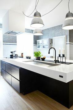 Moderne maße platte Küchen mit Kochinsel kochinsel