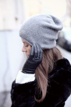 Winterrrr! Love these leather gloves and the warm knits!
