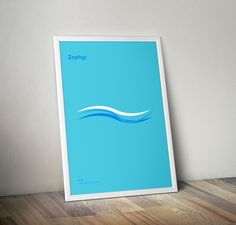 Mark Watson minimalist dictionary posters for kids: Zephyr (a gentle breeze)