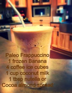 #paleo Frappuccino #vitamix (not sure about the Nutella)