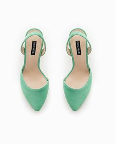 Green Sling Back Heels.