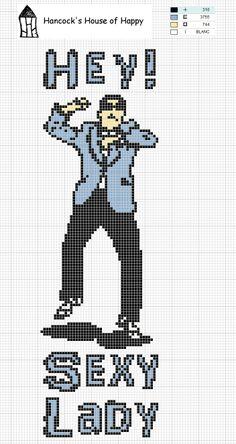House of Hancock Style! Sexy Lady Gangnam Style cross stitch chart