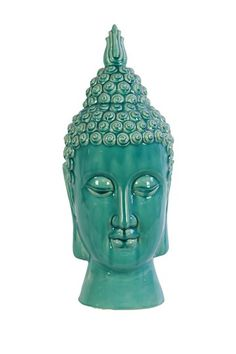 Ceramic Buddha Head Blue by Urban Trends Collection on @HauteLook