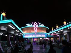 Flo's V8 Cafe at Disney California Adventure via @Arothwdwc