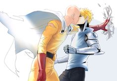 hikcups: Kabe…don www Commissioned by L - Saitama x Genos | One Punch Man