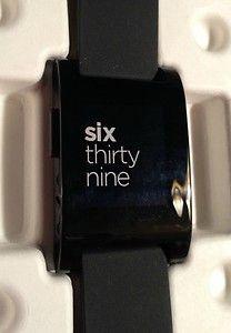Pebble Smart Watch Kickstarter Edition Jet Black in Hand | eBay