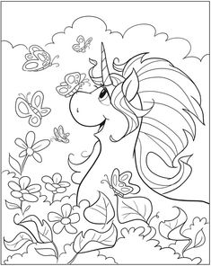 Welcome to Dover Publications Unicorn Fun Coloring Book Unicorn Coloring Pages, Colouring Pics, Animal Coloring Pages, Coloring Book Pages, Printable Coloring Pages, Coloring Pages For Kids, Coloring Sheets, Unicorn Pictures To Color, Unicorns And Mermaids