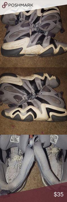 save off 2168c 71d0d Adidas Crazy 8s Grey Shoes Size 9
