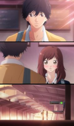 Ao haru ride♡♡- Kou and futuba Cute Anime Pics, Cute Anime Couples, Anime Love, Fairy Tail, Cute Romance, Romance Anime, Strobe Edge Manga, Kuroko, Ao Haru Ride Kou