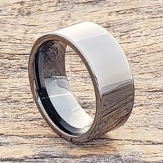 Europa black ice rings in a metallic gunmetal grey polished finish. Forever Metals black ice color is the color between silver tungsten and black tungsten. Ice Ring, Gray Polish, Otaku Room, Black Tungsten Rings, Tungsten Wedding Bands, Matching Rings, Black Rings, Metals, Rings For Men