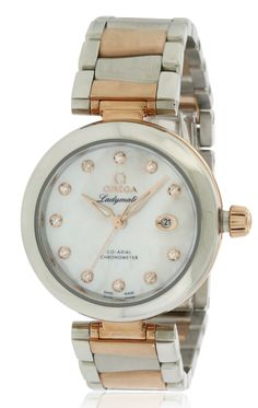 Omega DeVille Ladymatic Two-Tone Ladies Watch Women's, Multicolor Size: 20 Tag Heuer Aquaracer Ladies, Omega Ladies, Piercings, Discount Watches, Stainless Steel Bracelet, Gold Watch, Omega Watch, Rolex Watches, Bracelet Watch