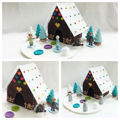 Gingerbread house Cottage Playscape Play Mat wool felt imaginative play storytelling fantasy storybook fairytale Dollhouse Christmas pretend by MyBigWorld2015 on Etsy