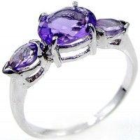 1.95ctw Genuine Amethyst & Solid .925 Sterling Silver Gemstone Ring (SJR10108A). Buy Now: http://www.sterlingsilverjewelry.tv/genuine-amethyst-925-sterling-silver-gemstone-ring-sjr10108a.html #SterlingSilverJewelry #silverrings #sterlingsilverrings #ringsilver #silverringdesigns #handmaderings #silverringssterling #Rings #RingsJewelry
