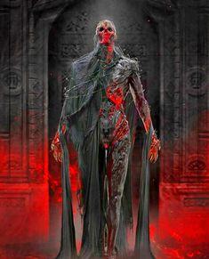 VON MORT Weird Creatures, Fantasy Creatures, Mythical Creatures, Female Character Design, Character Art, Fantasy Characters, Female Characters, Skeleton Warrior, Dark Artwork
