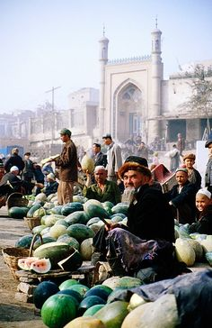 Kashgar market, Xinjiangf, China. Silk Route (Lonely Planet Images/ Jane Sweeney) Kashgar has long been on my bucket list as Silk Road city that has survived through the centuries, ideally to be approached after surmounting the great Karakorum Pass from Pakistan.