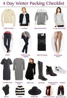 winter packing checklist   New York City