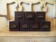 Vintage Rustic Wooden Drawer  Industrial by Thebeezkneezvintage, $12.00