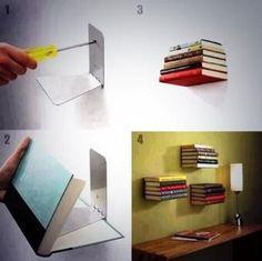 Invisible bookcase #home #decor #DIY