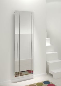 Kudox Tova Mirror Vertical Radiator, (H)1800 (W)600mm | Departments | DIY at B&Q