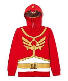 Loving this Red & Yellow Power Rangers Zip-Up Hoodie - Boys on #zulily! #zulilyfinds