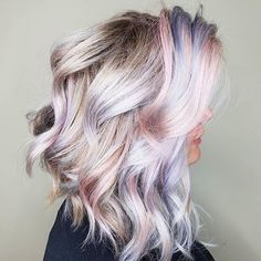 #Repost @camouflageandbalayage ・・・ Because it's gloomy and snow flurries have started and this makes me happy!  #joicointensity rose, lilac and titanium all diluted with olaplex no2 #colorintensity #joico #hairjoi #healthyhair #unicornhair #mermaidhair