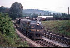 RailPictures.Net Photo: WM 240 Western Maryland Railway EMD F7(A) at Ridgeley, West Virginia by Extra 127 South
