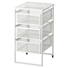 LENNART Drawer unit, white. The casters make it easy to move around. The drawers hold letter size paper.