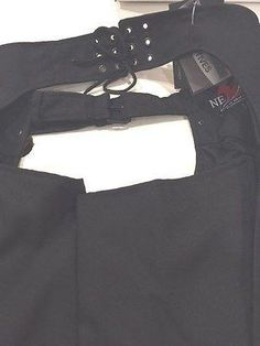 Black, 3XS Milwaukee Leather Womens Textile Chap w//Wing /& Rivet Detailing