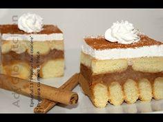 Prajitura cu mere si frisca - Ep 13 - Prajituri fara coacere Adygio Kitchen - YouTube Romanian Desserts, Romanian Food, Raw Food Recipes, Cake Recipes, Cake Bars, Food Cakes, No Bake Cake, Scones, Vanilla Cake