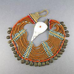 Vintage Bib Necklace Naga Necklace Ethnic Jewelry by OldTextiles