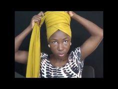 l'attaché foulard à la Néfertiti - YouTube