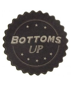 Bottoms Up Coaster - Clearance - Gifts & Decorations - East of India - Shop by Brand | TemptationGifts.com Pie Dish, Coasters, Decorations, India, Dishes, Shop, Gifts, Goa India, Presents