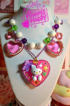 I Love Hello Kitty Sweet Lolita Kawaii Charm Necklace  by Kawaii4U