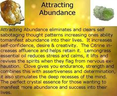 Attracting Abundance crystal essence spray to clear any blocks to abundance in your aura and start manifesting!