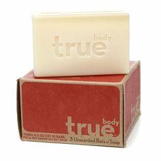 True Body Natural Bar Soap, 4.5oz, Unscented