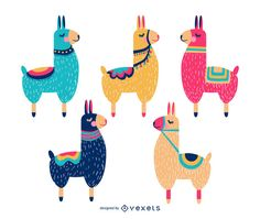 Collection of colorful llama animals with closed eyes with saddles on the back cartoon illustrations. Great for kids animal illustrations and more. Cartoon Cartoon, Alpacas, Llamas Animal, Llama Arts, Animals For Kids, Animals And Pets, Scandinavian Folk Art, Cute Llama, Llama Alpaca