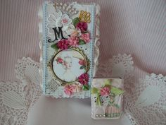 Altered match box, Marie style by somethingshinny, via Flickr