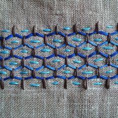 Sashiko pattern reminiscent of the 50s. #sashiko