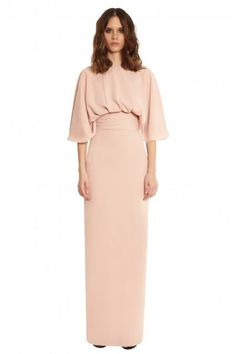 The Cool Girl's Guide To Bridesmaid Dresses #refinery29  http://www.refinery29.com/fashionable-bridesmaid-dresses#slide-2  Blush is a hue that's hard to hate.AQ/AQ Hiza Column Style Open Back Maxi Dress, $233, available at AQ/AQ....