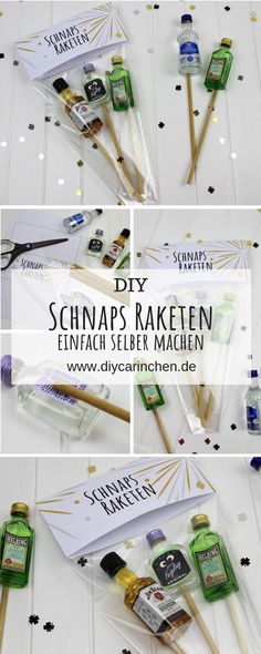 DIY Schnaps Raketen einfach selber machen – super für die Silvester Party Make DIY schnapps rockets yourself – great for the New Year's Eve party # rockets … Creative Gifts For Boyfriend, Presents For Boyfriend, Boyfriend Gifts, Silvester Party Diy, Diy Crafts To Sell, Easy Crafts, Cards Ideas, Diy Rocket, Simple Gifts