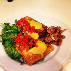 Messico e nuvole.... Pan fritto con guacamole fagioli e pomodorini... Piatto elaborato dal nostro chef di fiducia, Luca Lo Forte! Ovviamente condito con olio extravergine d'oliva #itrescudi