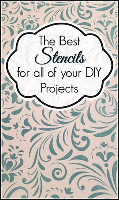 The best selection of stencils, unique stencils, wall stencils, all over stencils and stencils for your DIY projects and painted furniture. #ad