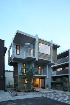 篠崎弘之建築設計事務所 『House B for a family』  https://www.kenchikukenken.co.jp/works/1415348314/366/  #architecture #建築