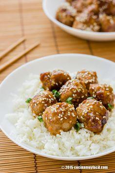 Recetas de albóndigas teriyaki para disfrutar en familia. Recetas fáciles y económicas con carne de cerdo