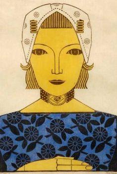 J. Heyse (1882-1954)  -  Zeeuws Meisje  -