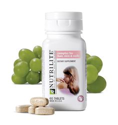 NUTRILITE® Hair, Skin and Nails contains unique combination of nutrients like biotin, collagen, L –cysteine, Glycine, Vitamin C, Grape seed extract and NUTRILITE Acerola cherry concentrate which helps keep hair, skin and nails healthy and beautiful.
