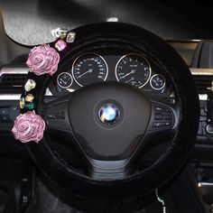 Buy Wholesale Vintage Women Crystal Rose Car Steering Wheel Covers Plush 15 inch - Black from Chinese Wholesaler Car Steering Wheel Cover, Crystal Rose, Buy Wholesale, Car Accessories, Vintage Ladies, Plush, Crystals, Black, Women