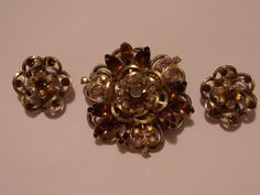 Vintage Selini Brooch & Earrings  #Selini