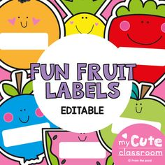 This packet is included in an 8 Pack Bundle - find it HERE These fun colorful fruit labels and perfect for making name cards, signs and container